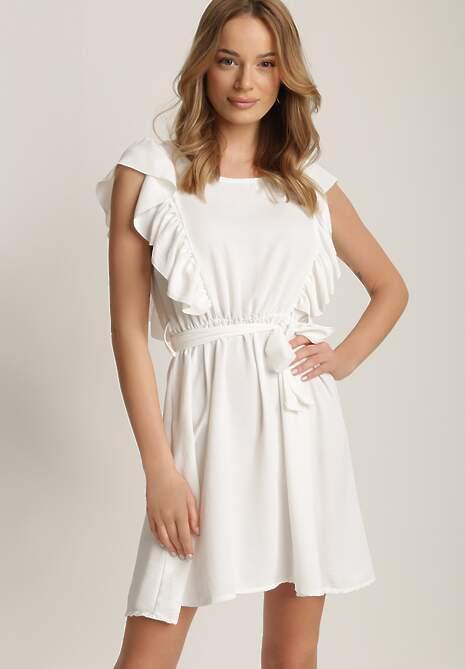 Biała Sukienka Alexolphi