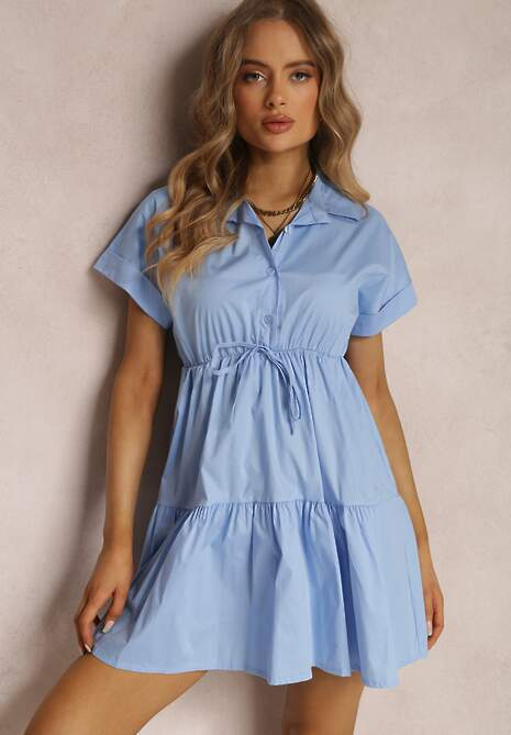 Niebieska Sukienka Kapholphi