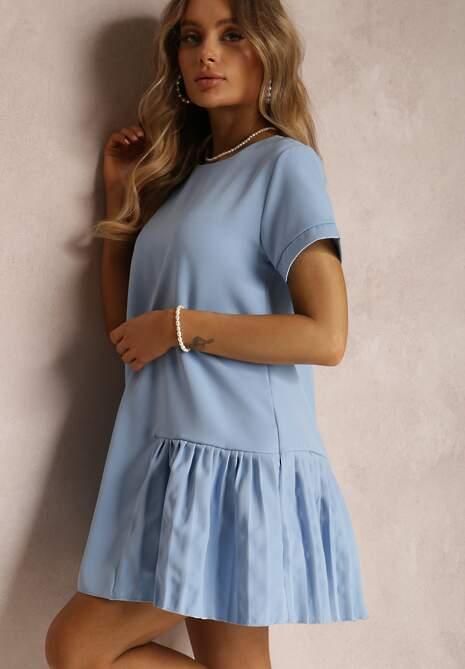 Niebieska Sukienka Prosacia