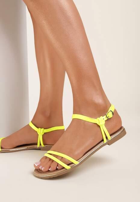 Żółte Sandały Ashosi