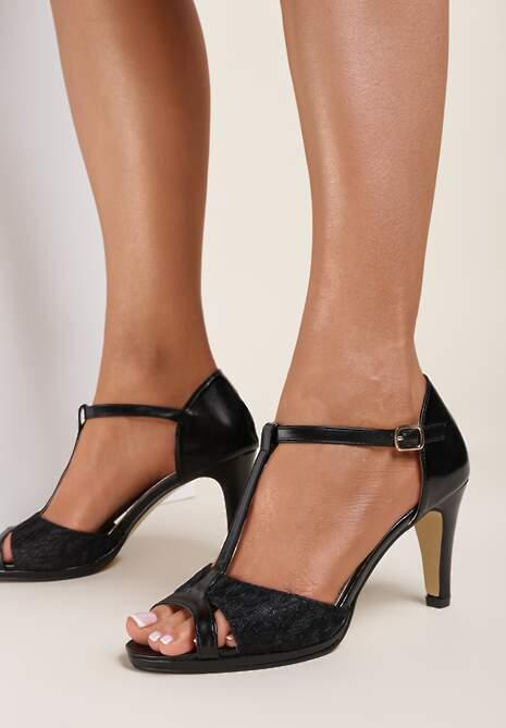 Czarne Sandały Arrinoe