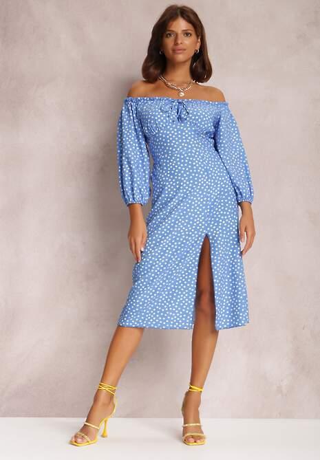 Niebieska Sukienka Hurinez