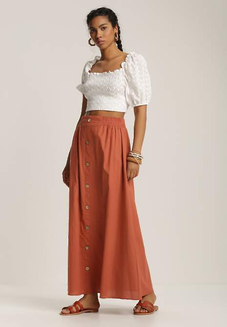 Pomarańczowa Spódnica Alethrisei
