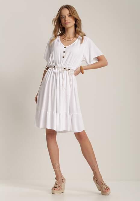 Biała Sukienka Merineva