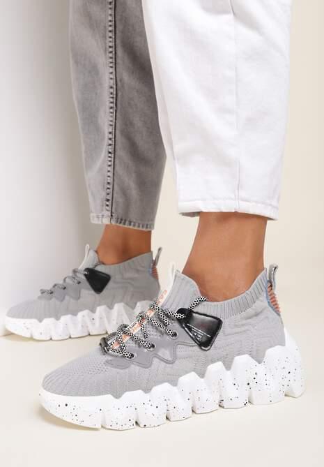 Szare Sneakersy Socrasos