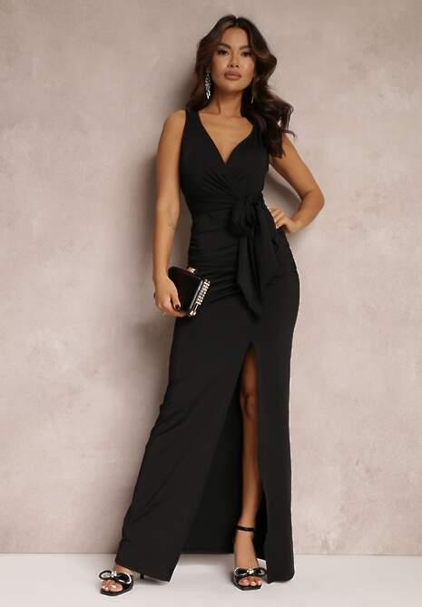 Czarna Sukienka Alphophe