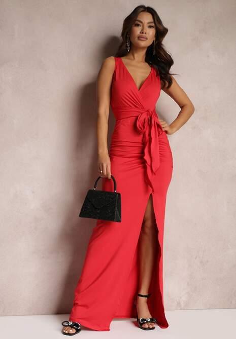 Czerwona Sukienka Alphophe