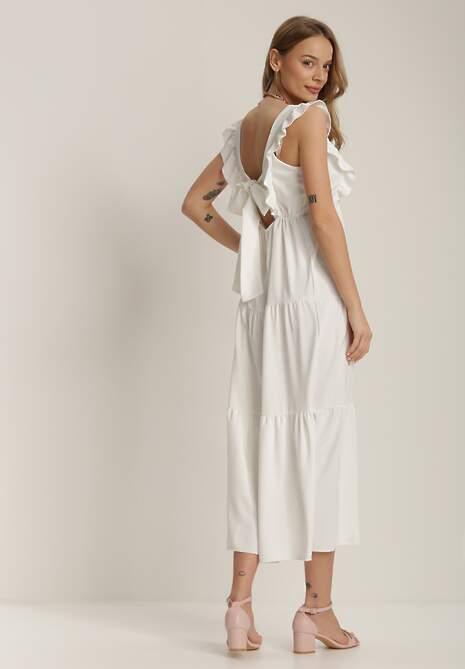 Biała Sukienka Stephitrius