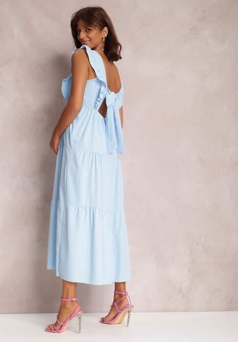 Niebieska Sukienka Stephitrius