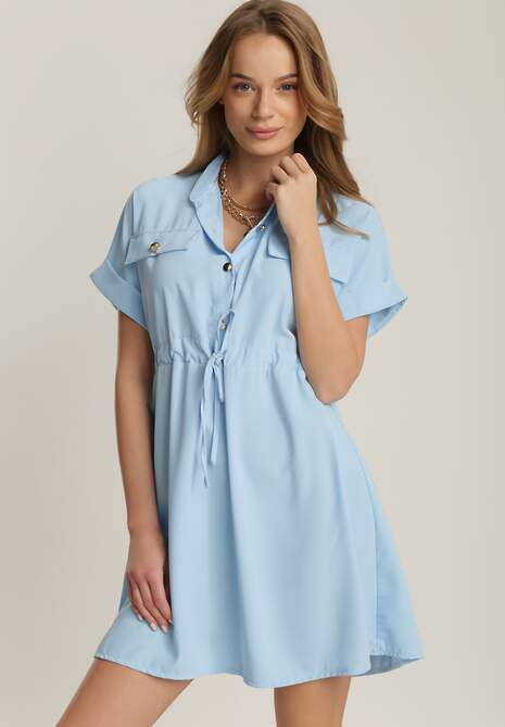 Niebieska Sukienka Acosisha