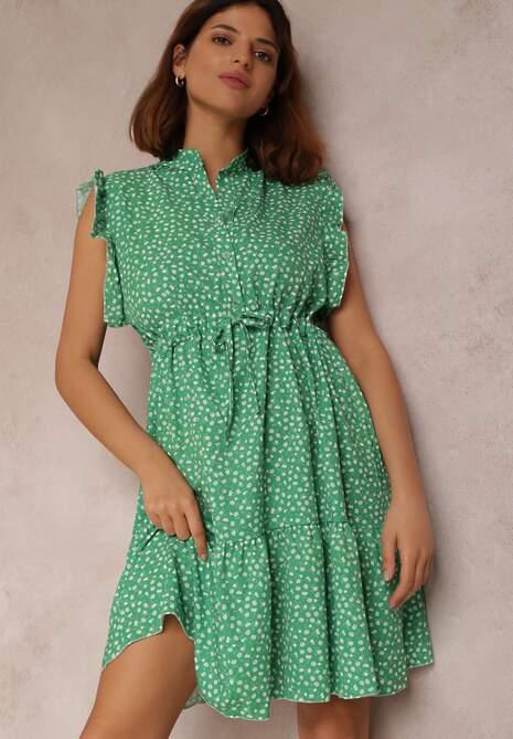Zielona Sukienka Caesorus
