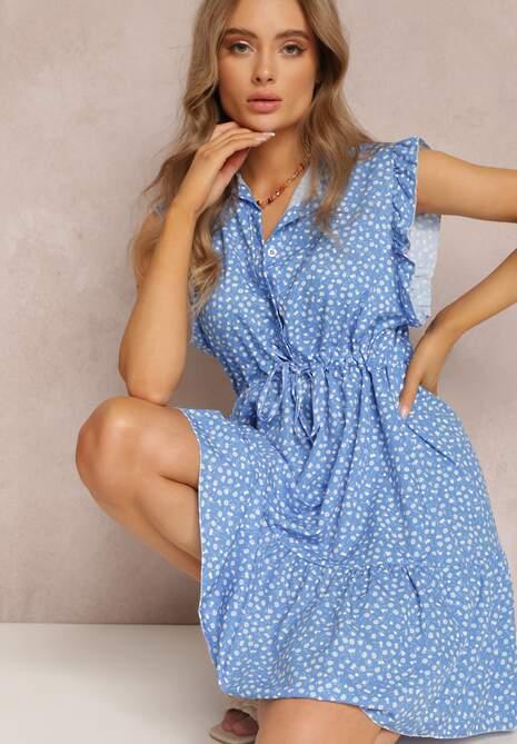 Niebieska Sukienka Caesorus