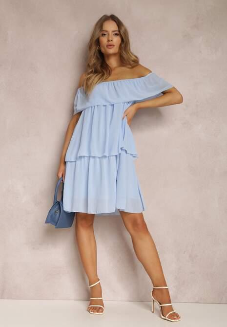 Niebieska Sukienka Inornar
