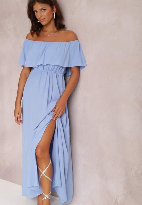 Niebieska Sukienka Toraer