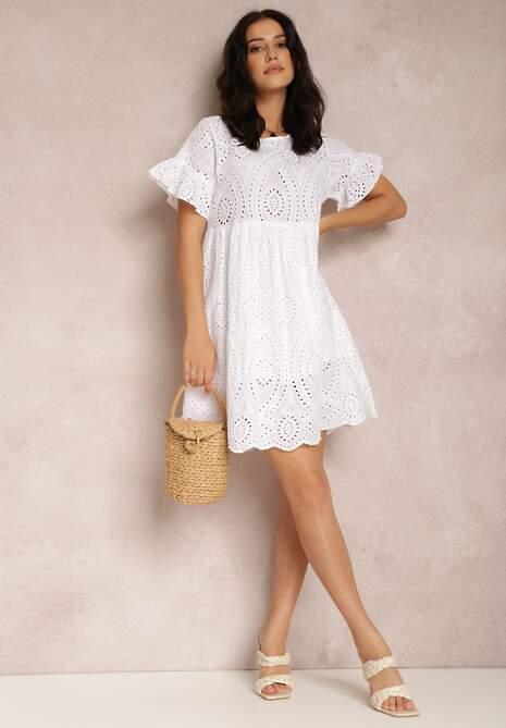 Biała Sukienka Wraxlynx