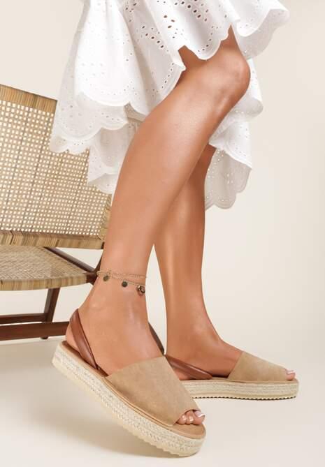 Beżowe Sandały Saloriko