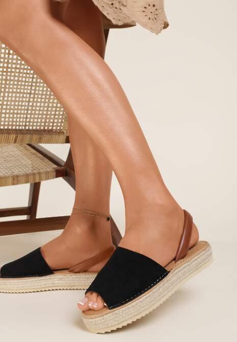 Czarne Sandały Saloriko
