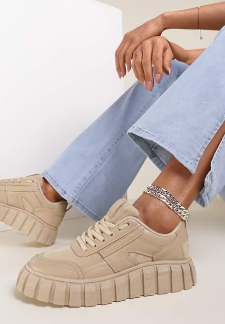 Ciemnobeżowe Sneakersy Aethirise
