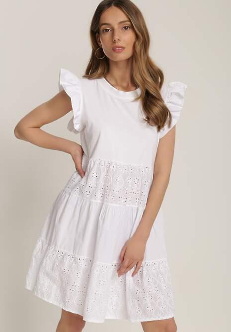 Biała Sukienka Asithe