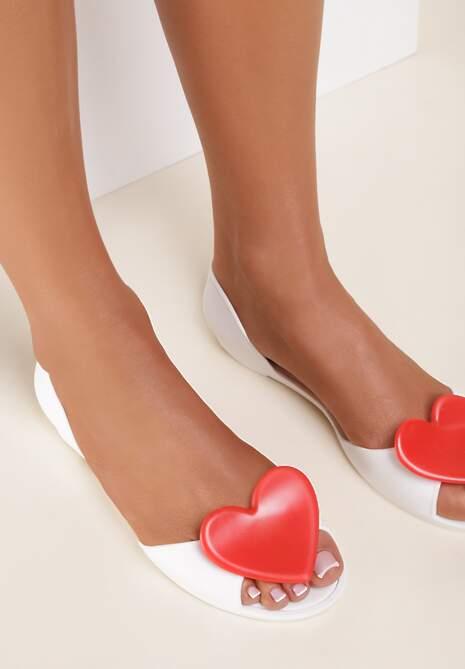 Biało-Czerwone Balerinki Pethis