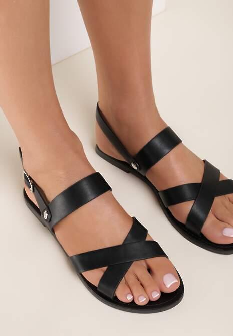 Czarne Sandały Thessama