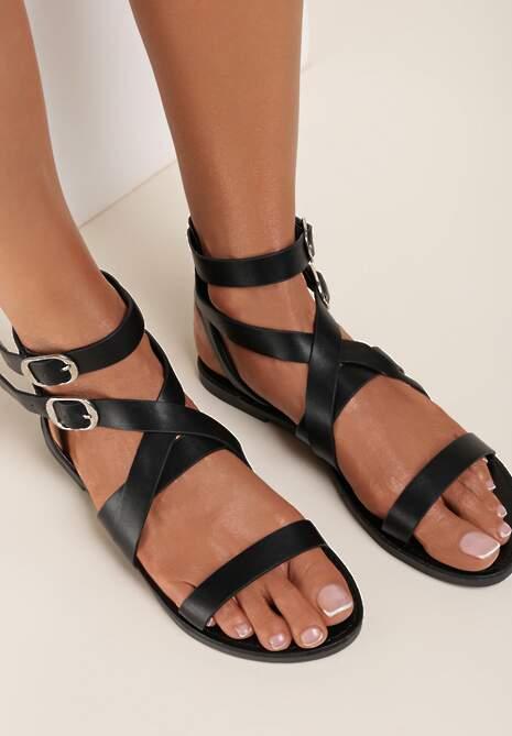 Czarne Sandały Metireanes