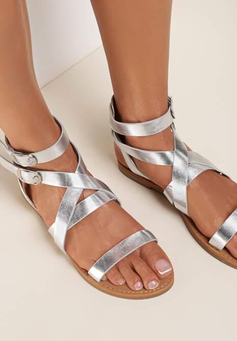 Srebrne Sandały Metireanes