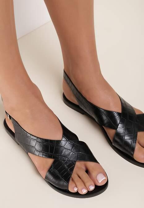 Czarne Sandały Pargina