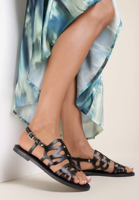 Czarne Sandały Alcisine