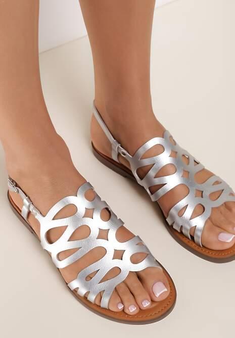Srebrne Sandały Alcisine