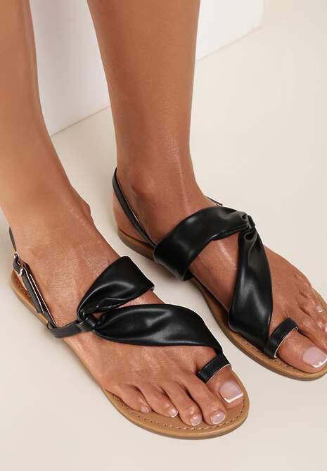Czarne Sandały Doriahaneh