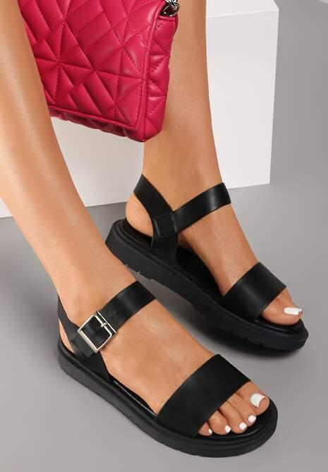 Czarne Sandały Phesea