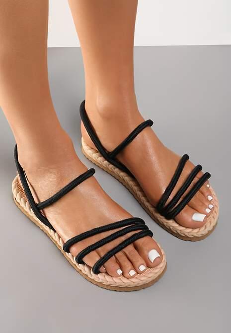 Czarne Sandały Borgale