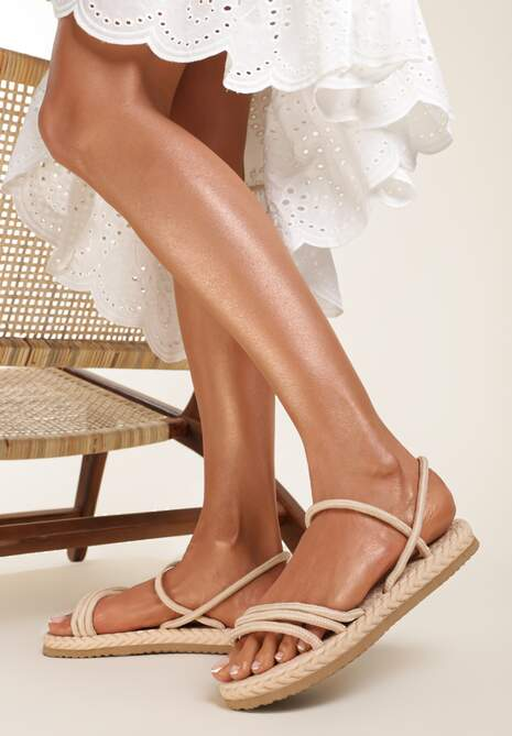 Beżowe Sandały Borgale