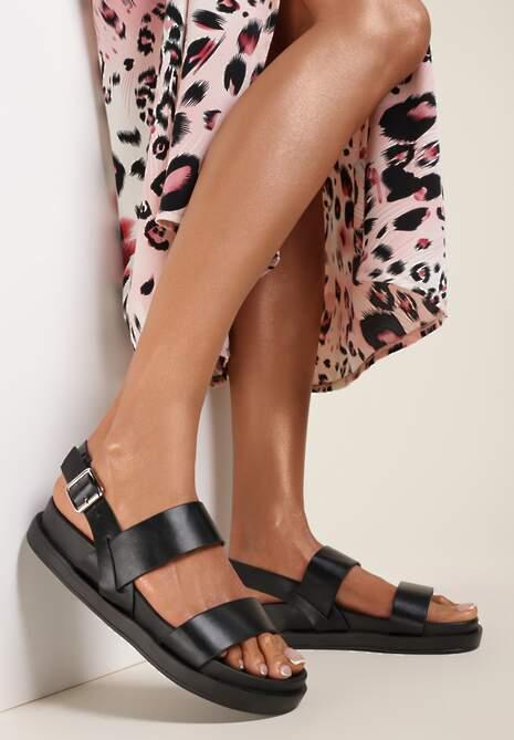Czarne Sandały Corrarin