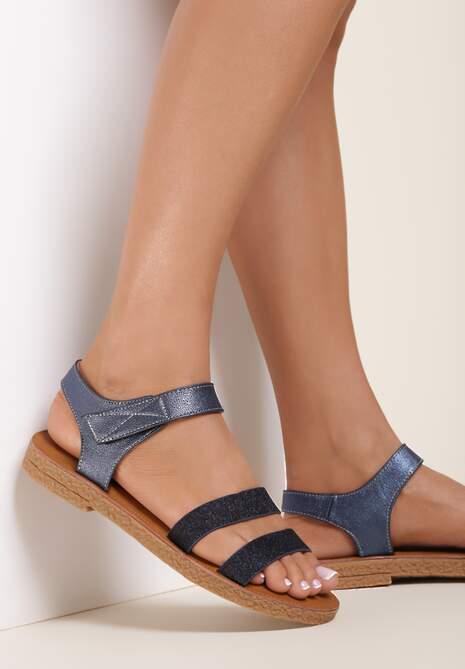 Granatowe Sandały Tanianise