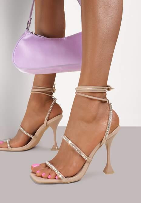 Beżowe Sandały Daphiphine