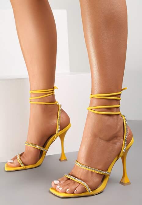 Żółte Sandały Daphiphine