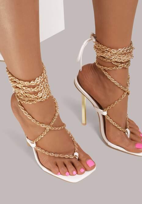 Białe Sandały Hiris