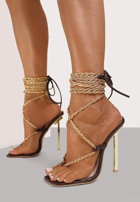 Brązowe Sandały Hiris