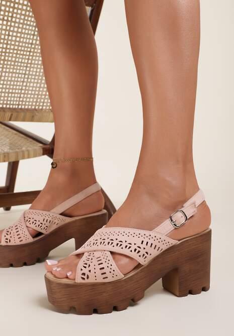 Różowe Sandały Rhaethusa