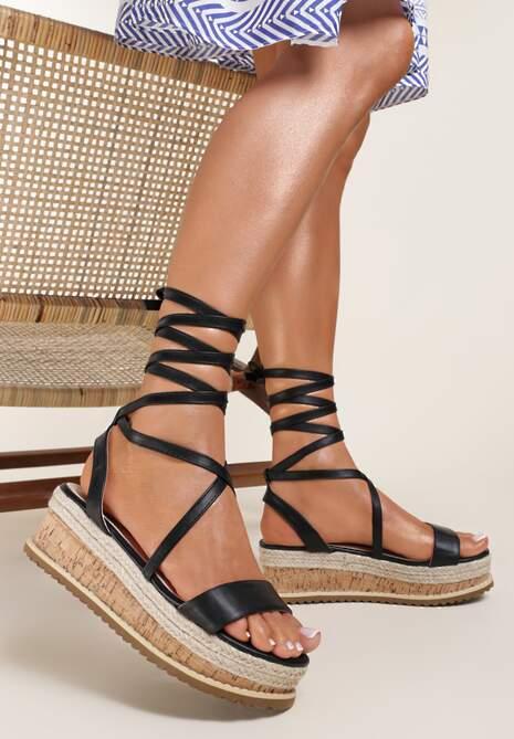 Czarne Sandały Abarodia