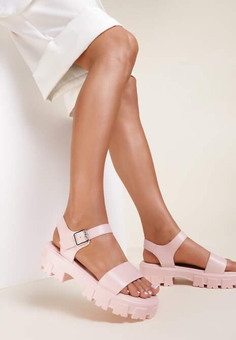 Jasnoróżowe Sandały Coreamala