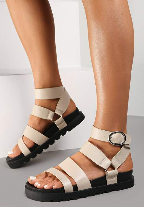 Beżowe Sandały Ophioesa