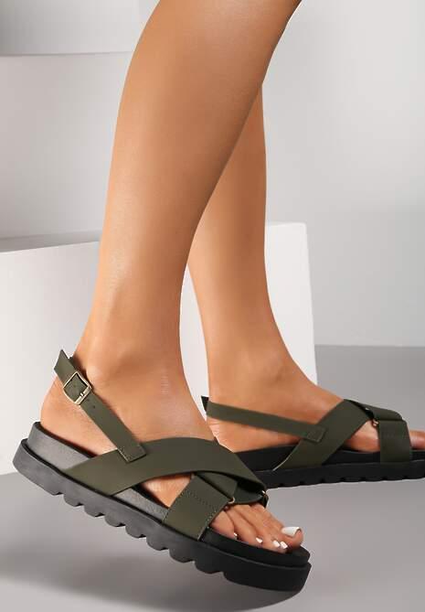 Khaki Sandały Athilymes
