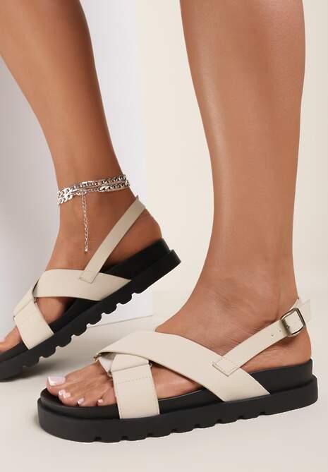 Beżowe Sandały Athilymes