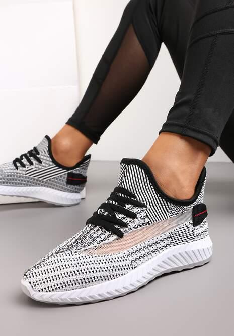 Czarno-Białe Buty Sportowe Sereira