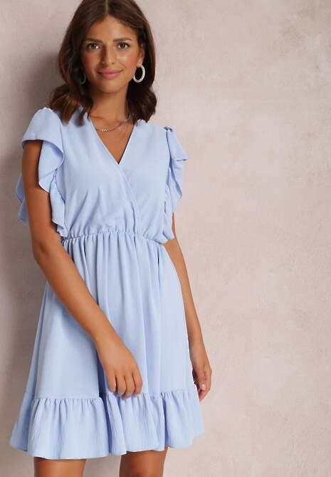 Niebieska Sukienka Alethrypise