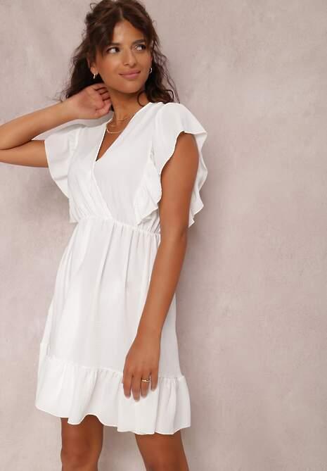 Biała Sukienka Alethrypise