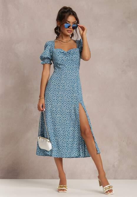 Niebieska Sukienka Melorith